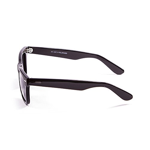 Ocean Sunglasses Lowers Lunettes de Soleil Mixte Adulte, Matte Black/Shiny Black Down/Smoke Lens