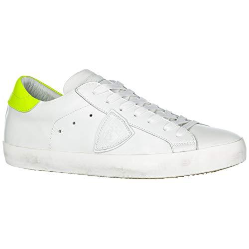 Model Neon Veau Chaussures Blanc Philippe Sneakers Paris Jaune Cuir Baskets Homme En dqwCFvw