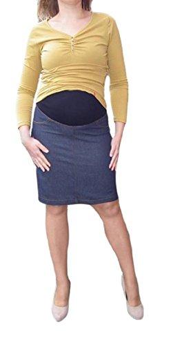Top Mujer Maternidad Falda Jeans más de protuberancia embarazo ropa vestido tamaño 8A 16 azul oscuro