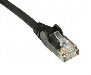 Noir rj cat e c ble réseau ethernet modem routeur de bureau