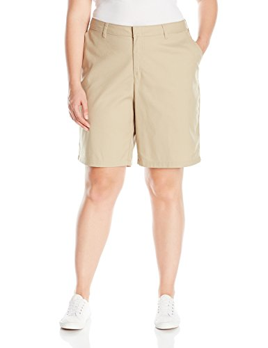 Dickies Women's Size Relaxed Fit 9 inch Flat Front Short Plus, Desert Sand, 18W