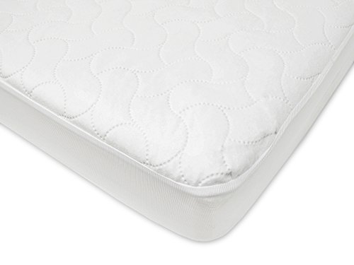 American Baby Company Waterproof Fitted Crib and Toddler Protective Mattress Pad Cover, White (Toddler Crib Skirt)