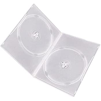 Square Deal Online DV2R07CL 7mm Double Clear DVD Cases with Wrap Around Sleeve, Pack of 100