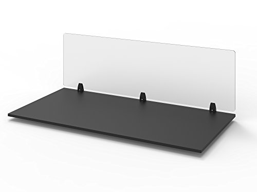 Stand Up Desk Store Desk Mounted Privacy Panel – Frosted Desk Divider and Office Partition (60