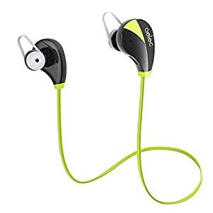 Star S350 Wireless Bluetooth Headphones In-Ear Sports Headset Sweatproof Earphones Noise Cancelling Headsets with Mic for Running Jogging Green