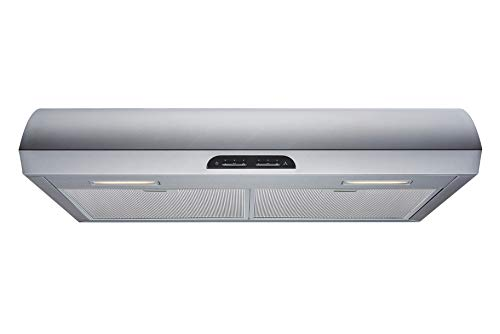 30 in. Convertible 480 CFM Under Cabinet Range Hood in Stainless Steel with Mesh Filters and Touch Sensor Controls