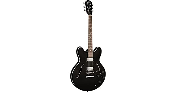 OE30 Oscar Schmidt Guitarra Eléctrica Cuerpo Hueco by Washburn, cubiertas de pastillas, cromado, de madera de ébano Clavijas: Amazon.es: Instrumentos ...