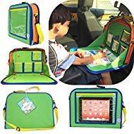 Niños asiento trasero Organizador marcadores de ceras un iPad Kindle o otra Tablet.Ideal para viajes por carretera y de...