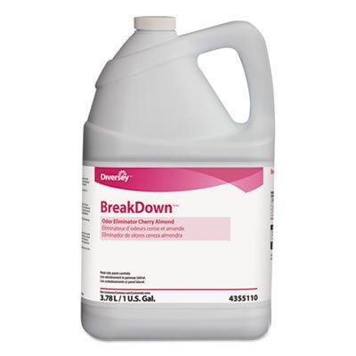 Diversey 94355110 Odor Eliminator, Cherry Almond Scent, Liquid, 1 gal. Bottle, 4/Carton by Diversey