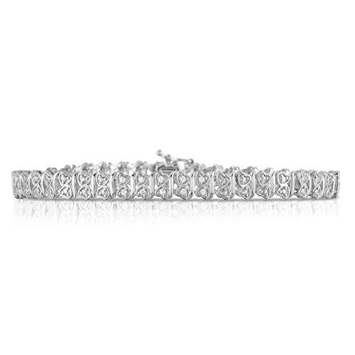 NATALIA DRAKE Accent Diamond Two Hearts Link Bracelet ()