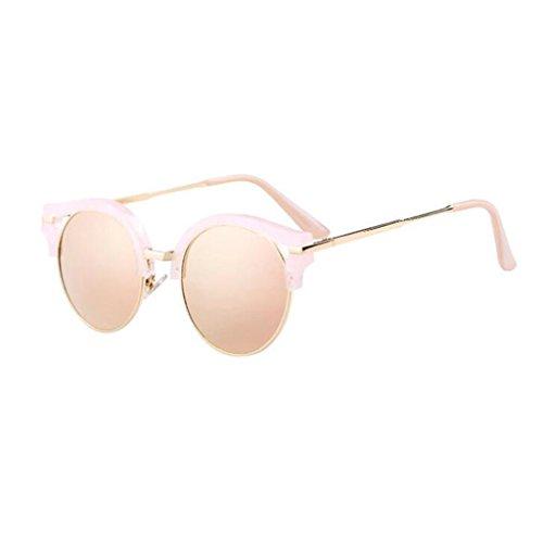 Pink Personalidad Gafas QZ luz de HOME polarizada Sol Negro Playa Color Vintage Elegante Moda UBC6wKqRCa
