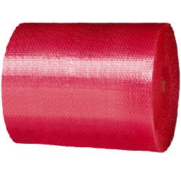 ecologico Realpack antistatico colore rosso 300 mm//500 mm//750 mm Rotolo di pluriball riciclabile
