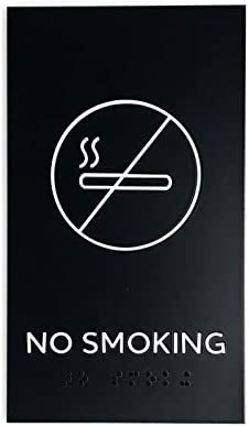 Modern Design Sign for No Smoking Area with 3M Double Sided Tape Kubik Letters No Smoking Sign