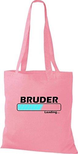 JUTA Borsa di stoffa BRUDER LOADING VARI COLORI - rosa, 38 cm x 42 cm