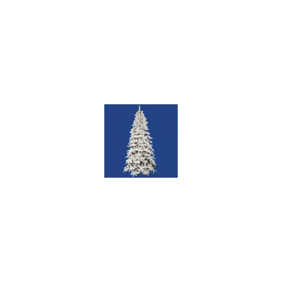 12 Pre Lit Flocked Olympia Fir Artificial Christmas Tree   Clear Dura Lights