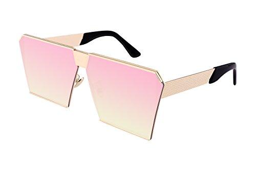 bd6d27e9223 FEISEDY Square Oversize Sunglasses Metal Frame UV400 Men Women Sunglasses  B2247