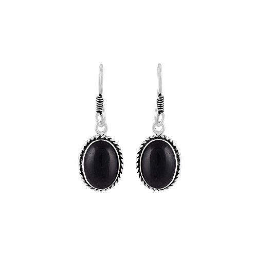 Vibgyor Vibes Oxidised plated Ethnic Fish Hook Tear Drop Earrings With Colored Stone For Girls and Women