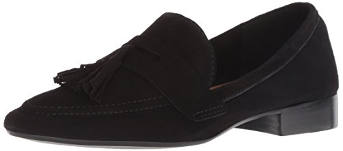Suede French Sole Flats (French Sole FS/NY Women's Chime Loafer Flat, Black, 9.5 M US)