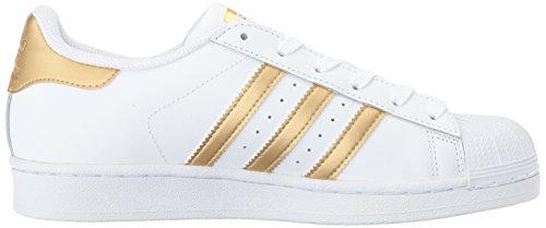 White adidas Gold Originals Boys' Trainers Superstar Blue Metallic xwBqwU