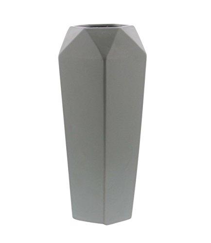 Deco 79 60775 Paneled Diamond-Shaped Ceramic Vase, 14