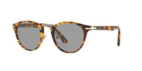 Persol Men's Round Tortoise Sunglasses, Madreterra/Grey, One Size (Persol Round Sunglasses)