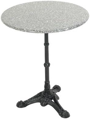 Garden Table Bistro Table Black Gusseisener Base With Grey Granite Table Top Amazon De Garten