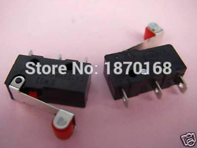 Price comparison product image 10 Pcs KW12-N Limit Switch mikro,  Rol tuas Subminiature aksi jepret banyak