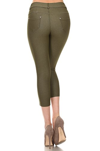 Women Slim Cropped Jeans