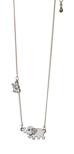 Womens Silver Plated Elephant Necklace