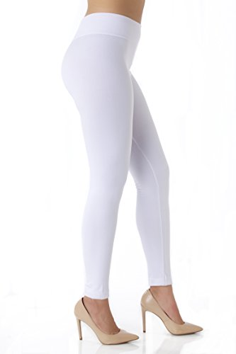 Conceited Fleece Lined Leggings for Women - LFL Pure White - Small/Medium