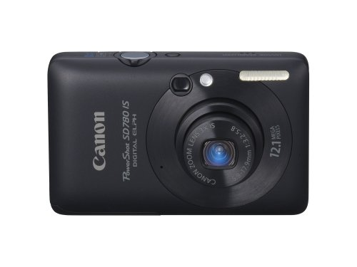 Canon PowerShot SD780IS 12.1 MP Digital Camera with 3x Optical Image Stabilized Zoom and 2.5-inch LCD (Black) (Discontinued by Manufacturer)