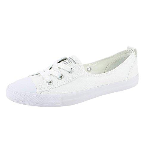 Converse  Chuck Taylor Ballet Lace,  Damen Sneaker Low-Tops , weiß - White Mono - Größe: 36.5 EU
