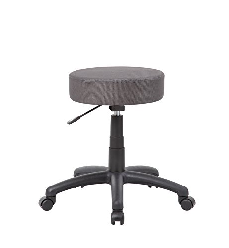 - Boss Office Products B210-CG DOT Stool in Charcoal Grey