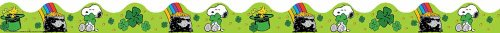 Eureka Peanuts St. Patrick's Day Deco Trim, Set of 12 Reusable Strips, Each Strip Measuring 37