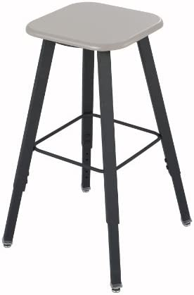 Safco Products Alphabetter Stool for Alphabetter Stand-Up Desk sold separately , Black Frame Beige Seat