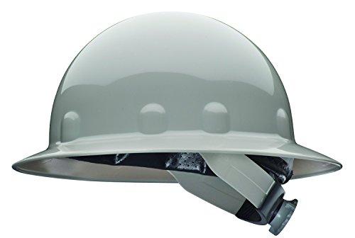 Fibre-Metal by Honeywell E1SW09A000 Super Eight Full Brim Swing Strap Hard Hat, Grey
