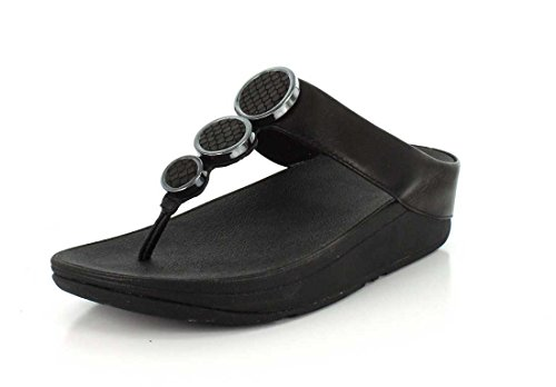 ebay sale online clearance find great FitFlop Women's Halo Toe Thong Sandal Black cheap sale for nice with paypal cheap online 0EVQi