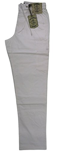 Sea Cotone Art Elastico Uomo Bianco Pantalone Barrier MXxxl Isola Tela Tasconi eIbYWD9H2E