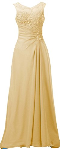 Champagne Dress Chiffon Long Appliqued Women's Mother ANTS The of Bride Evening qHfxv8xnw