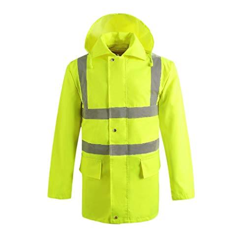 (BingWS Vests Traffic Pocket Vest Reflective Belt Waterproof Quilted Jacket High Visibility Work Clothes Invisible Visor Fluorescent Vest Pocket Apparel (Color : Fluorescent Green, Size : XL))