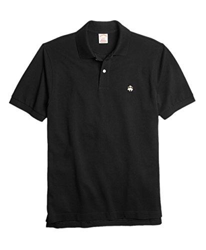 Brooks Brothers Men's 346 Original Fit Performance Pique Polo Shirt Black ()