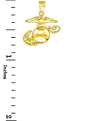 "10 ct 471/1000 Or ""US Marine Corps"" Petitr Pendentif"