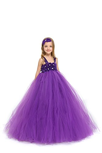 MALIBULICo Handmade Flower Girl Dress with Matching Headband for Weddings and Pageant