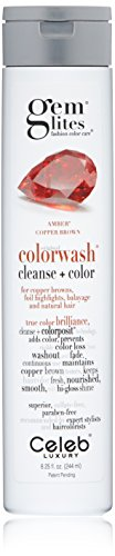 Gem Lites Color Depositing Shampoo: Gem Lites Amber Copper Brown Cleansing Colorwash, (Moisture Light Shampoo)