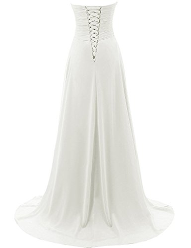 10d95af483 JAEDEN Wedding Dresses Beach Bridal Dresses Chiffon Wedding Gowns Strapless  Bride Dress at Amazon Women's Clothing store: