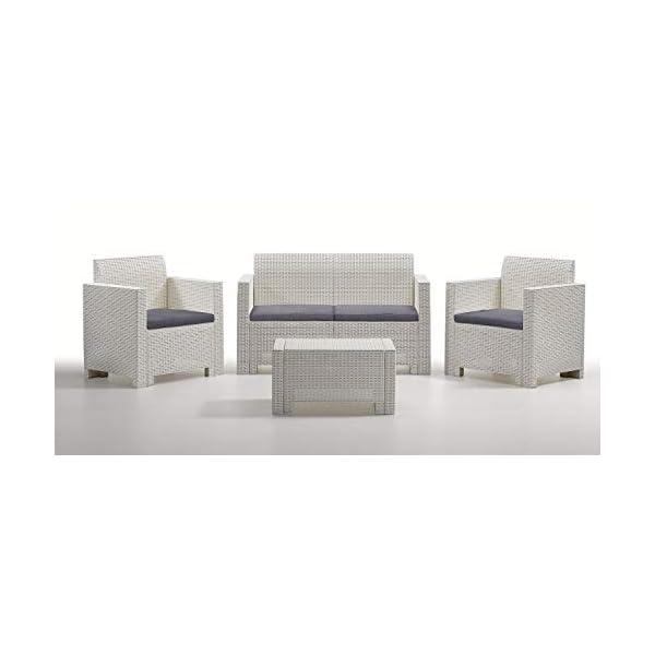 Antonio Capaldo SpA Nebraska 2 Bianco Set mobili da Giardino, 4 Pezzi: Divano; Poltrone; Tavolino 1 spesavip