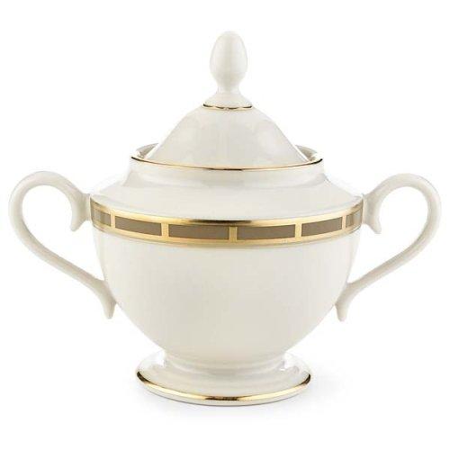 Lenox Desert Vista Ivory China Gold Banded Sugar Bowl