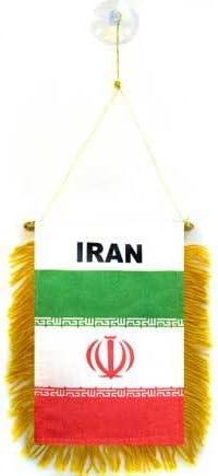 AZ FLAG BANDERIN de IRÁN 15x10cm con Ventosa - BANDERINA IRANÍ 10 x 15 cm para Coche: Amazon.es: Hogar