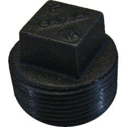 1 1/4'' Black Malleable Iron Plug