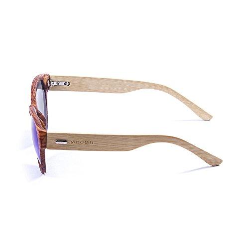 Ocean Sunglasses cool - lunettes de soleil en Bambou - Monture : Bambou - Verres : Revo Bleu (51001.3) hQa2M
